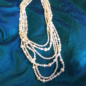 Vintage Pearls Sterling Necklace
